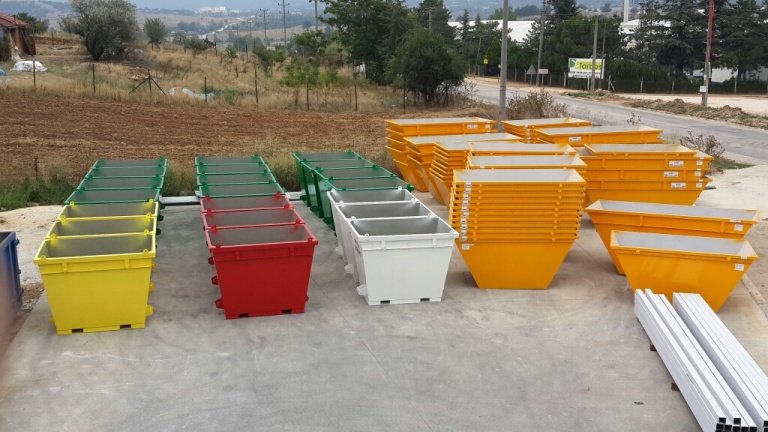 KIO Delivered Bucket Type Skip Containers to ITALY