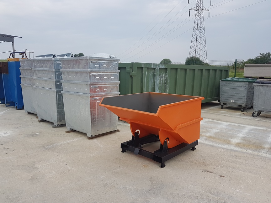 Forklift Hopper Bins, Gitterbox | Kio Skip Container, Roll Container