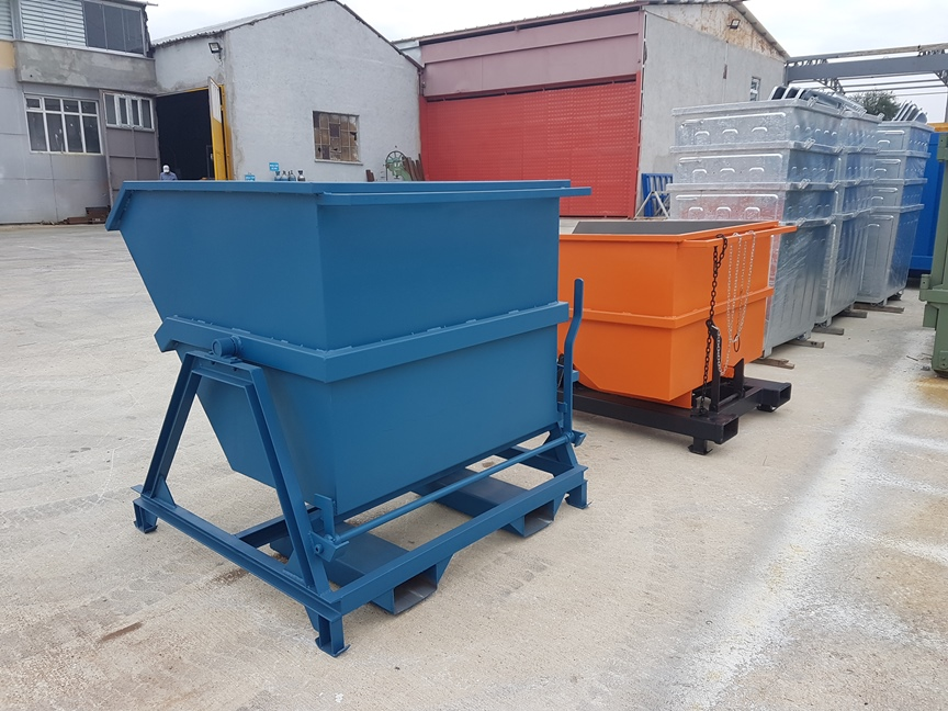 Forklift Hopper Bins, Gitterbox | Kio Skip Container, Roll Container