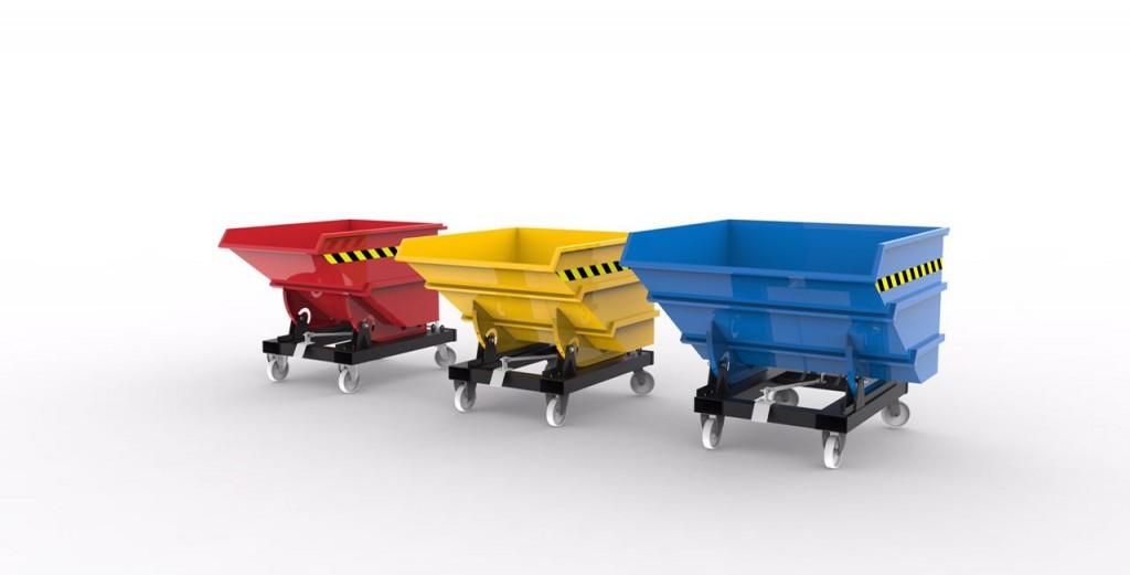 Forklift Hopper Bins Gitterbox Kio Skip Container Roll