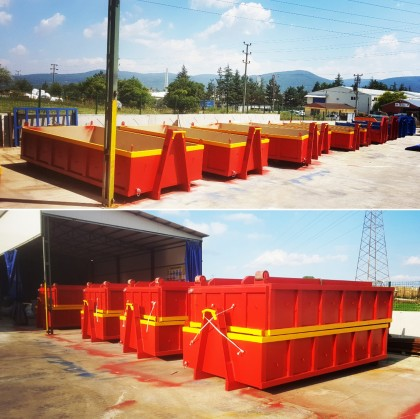 ISRAEL, Delivered 227 pcs Skip and Roll Containers