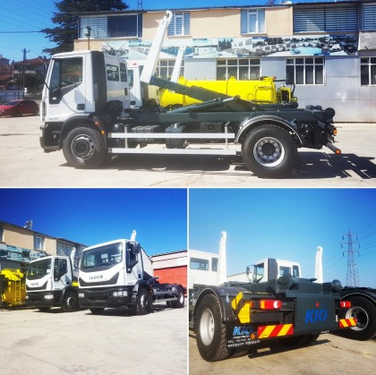 IRAQ, Iveco + KIO Hooklift Trucks Delivered to US Embassy, Baghdad, Iraq