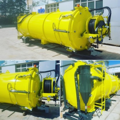 ANGOLA, Delivered 18000lt Combined Vacuum and Canal Equipment with Italian Pumps