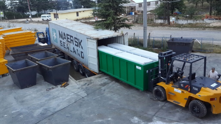 KIO Delivered Roll Containers to TOGO, AFRICA